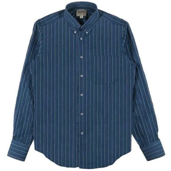 Naked & Famous Other - Naked & Famous BNWT Blue stripe shirt long sleeve